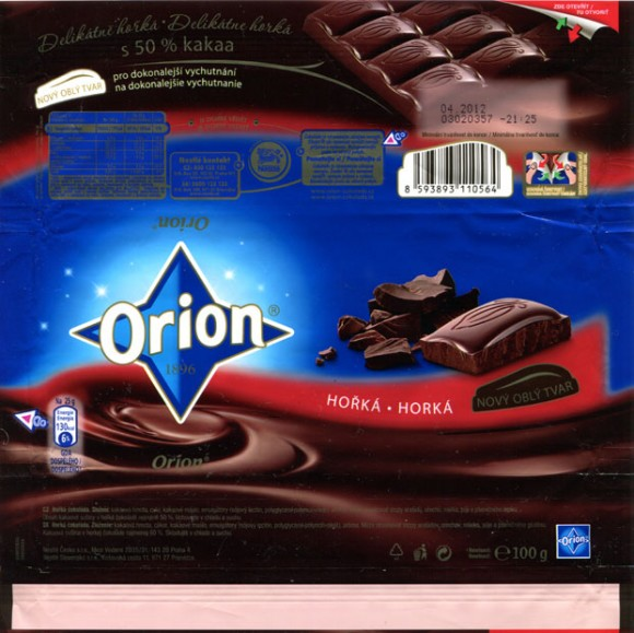 Dark chocolate, 100g, 04.2011, Nestle Cesko s.r.o, Praha, Czech Republic