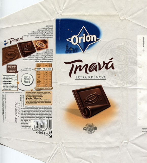 Dark chocolate, 100g, 11.2007, Nestle Cesko s.r.o, Praha, Czech Republic