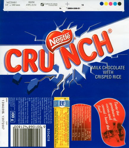 Milk chocolate with crisped rice, 100g, 13.04.2006, Nestle South Africa Ltd, Randburg, South Africa