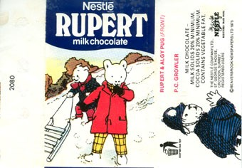 Nestle Rupert, milk chocolate, The nestle Company LTD., ST.George