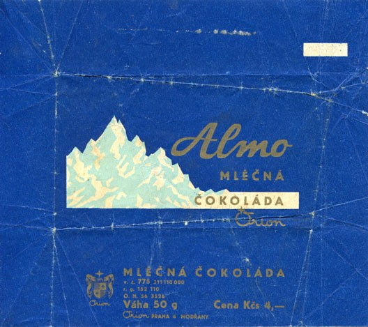 Almo, milk chocolate, 50g, about 1970, Orion  Praha 4 Modrany, Czech Republic (CZECHOSLOVAKIA)