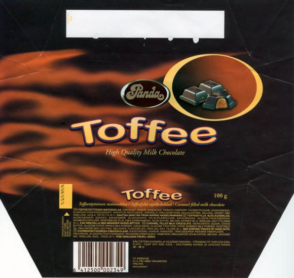 Toffee, caramel filled milk chocolate, 100g, 03.2004