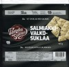 White chocolate with salty liquorice flavoured pieces, 145g, 08.03.2018, Oy Panda AB, Vaajakoski, Finland