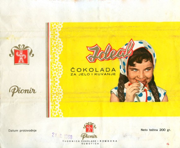 Ideal, milk chocolate, 200g, 21.11.1968, Pionir, Subotica, Serbia