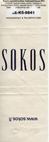 Sokos, milk chocolate, 5 g, 2014, made for Presenta, Finland