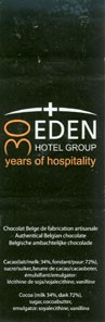 Eden hotel group, belgian chocolate, Belgium