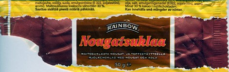 Rainbow milk chocolate with nuts, 50g, 07.07.2004