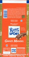 Ritter sport, ganze mandel, milk chocolate with whole almond, 100g, 10.1998, Alfred Ritter GmbH & Co. Waldenbuch, Germany