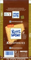 Ritter sport, knusperkeks, milk chocolate with crispy, 100g, 09.1998, Alfred Ritter GmbH & Co. Waldenbuch, Germany