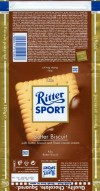 Ritter sport, a butter biscuit and a milk and cocoa cream in milk chocolate, 100g, 05.08.2008, Alfred Ritter GmbH & Co. Waldenbuch, Germany