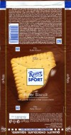 Ritter sport, A butter biscuit and a milk and cocoa cream in milk chocolate, 100g, 30.06.2010, Alfred Ritter GmbH & Co. Waldenbuch, Germany