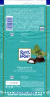 Ritter sport, plain chocolate with peppermint filling, 100g, 08.08.2010, Alfred Ritter GmbH & Co. Waldenbuch, Germany