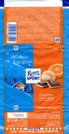 Ritter sport, winter edition, milk chocolate with marzipan flavoured with orange, 100g, 28.07.2011, Alfred Ritter GmbH & Co. Waldenbuch, Germany