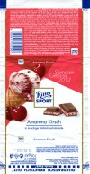 Ritter sport, milk chocolate with cherry flavoured cream filling, 100g, 30.03.2012, Alfred Ritter GmbH & Co. Waldenbuch, Germany