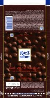 Ritter sport, plain chocolate with whole hazelnuts, 100g, 02.06.2013, Alfred Ritter GmbH & Co. Waldenbuch, Germany