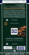 Ritter sport, Milk chocolate with whole almonds, 100g, 19.07.2014, Alfred Ritter GmbH & Co. Waldenbuch, Germany