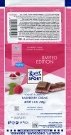 Ritter sport, yogurt E lamponi raspberry cream, 100g, 19.02.2018, Alfred Ritter GmbH & Co. Waldenbuch, Germany