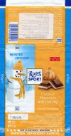 Ritter sport, winter edition, filled milk chocolate with milk creme, pieces of coconut Macaroon, 100g, 19.07.2012, Alfred Ritter GmbH & Co. Waldenbuch, Germany