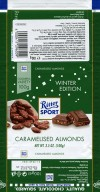 Ritter sport, winter edition, milk chocolate with caramelised almonds, 100g, 25.05.2017, Alfred Ritter GmbH & Co. Waldenbuch, Germany