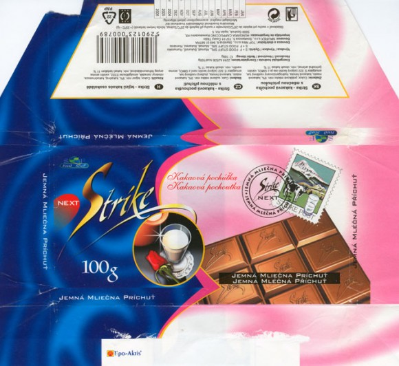 Strike, milk chocolate with milk filling, 100g, 11.2003, 