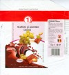 1, milk chocolate with raisins and hazelnuts, 100g, 09.2007, S+F Food Stuff SRL, Bucharest, Romania