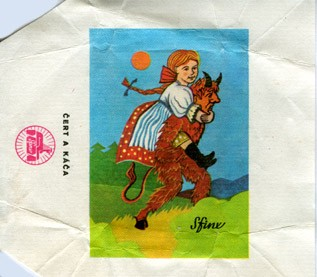 Cert a kaca, milk chocolate, 1980, Sfinx, Holesov, Czech Republic (CZECHOSLOVAKIA)