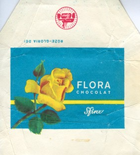 Flora Ruze-Gloria Dei, milk chocolate, 1980, Sfinx, Holesov, Czech Republic (CZECHOSLOVAKIA)