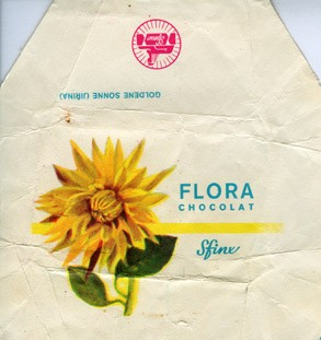 Flora Goldene Sonne (Jirina), milk chocolate, 1980, Sfinx, Holesov, Czech Republic (CZECHOSLOVAKIA)