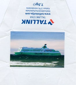 Silja Line, Tallink Star, milk chocolate, 7,5g, 2008, Made in Germany