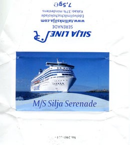 Silja Line, M/S Silja Serenade, whole milk chocolate, 7,5g, 2013, Made in Germany