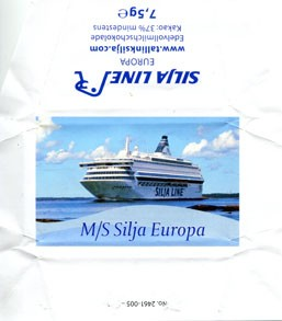 Silja Line, M/S Silja Europa, whole milk chocolate, 7,5g, 2013, Made in Germany