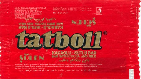 Tatboll , bar with cocoa and milk, 20g, 11.1992