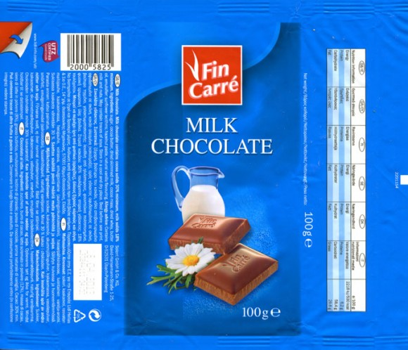 FinCarre, milk chocolate, 100g, 18.04.2012, Solent GmbH & Co. KG., Ubach-Palenberg, Germany