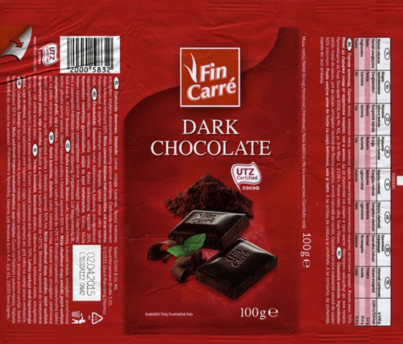 FinCarre, dark chocolate, 100g, 02.04.2014, Solent GmbH & Co. KG., Ubach-Palenberg, Germany