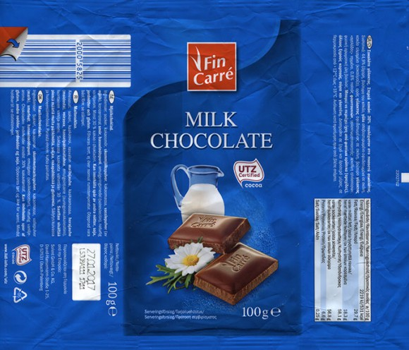 FinCarre, milk chocolate, 100g, 27.01.2016, Solent GmbH & Co. KG., Ubach-Palenberg, Germany