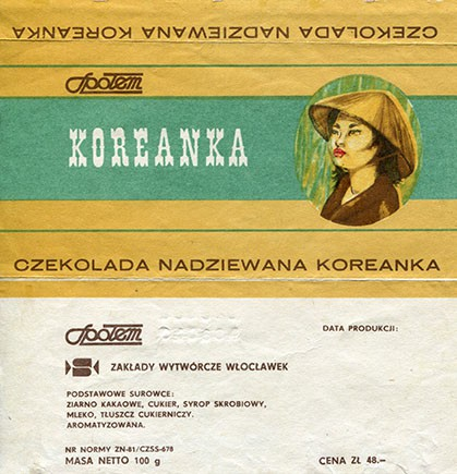 Koreanka chocolate, 100g, 1984, Spolem, Poland