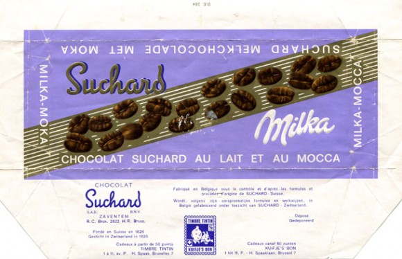 Milka, milk chocolate with mocca taste, about 1970, Suchard, Zaventem, Belgium