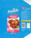 Primola, capsuni savuroase, milk chocolate with strawberry cream, 100g, 2006, Supreme chocolat S.R.L, Bucharest, Romania