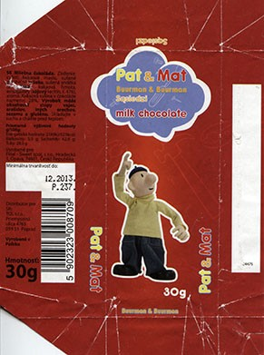 Pat & Mat, milk chocolate, 30g, 12.2012, Final - Sweet spo.s r.o., Opava, Czech Republic, Made in Poland