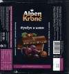 Milk chocolate with raisins and nuts, 100g, 25.11.2013, Alpen Krone, OOO VK, Kasimov, Russia