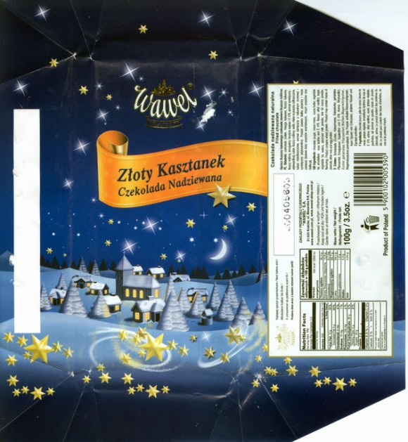 Zloty kasztanek, filled chocolate, 100g, 20.04.2004