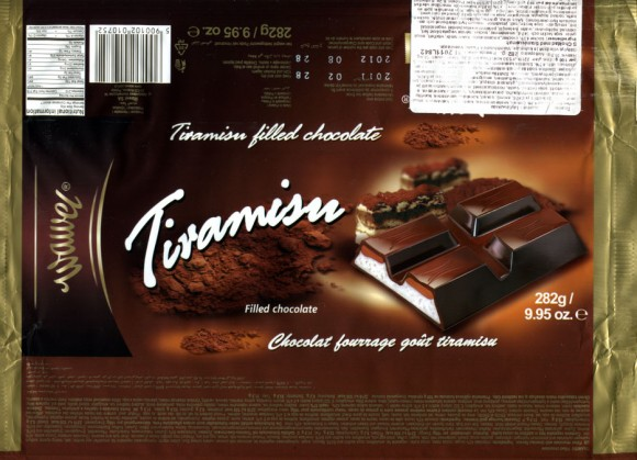 Filled chocolate with tiramisu flavour, 282g, 02.2011, Wawel S.A., Krakow, Poland