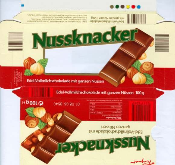 Milk chocolate with nuts, 100g, 01.08.2005, WIHA Gmbh, Halle, Germany