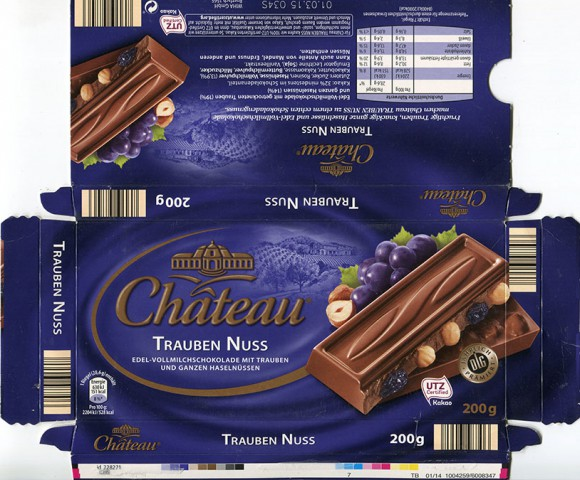 Milk chocolate with raisins and hazelnuts, 200g, 01.03.2014, WIHA Gmbh, Halle, Germany