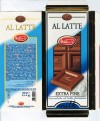 Al Latte, fine milk chocolate bar, 100g, 31.12.2005, Witors, Corte de Frati, Cremona, Italy