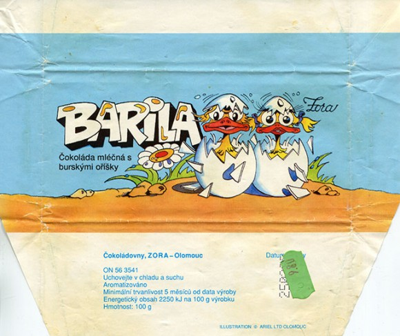 Barila, milk chocolate with nuts, 100g, 25.02.1991, Cokoladovny, Zora, Olomouc, Czechoslovakia